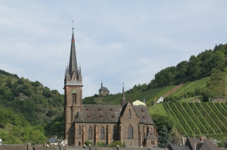 Boppard church, Rhine river