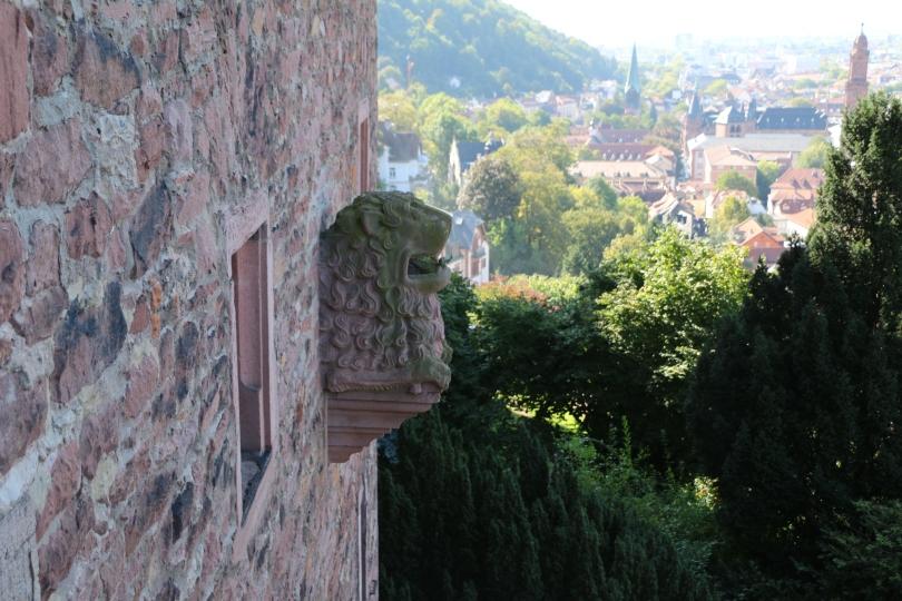 Heidleberg castle walls.