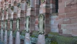Restored walls Heidleberg castle.