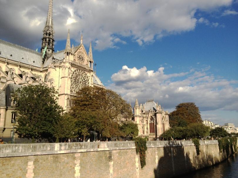 Notre Dame de Paris, Seine river, Paris France