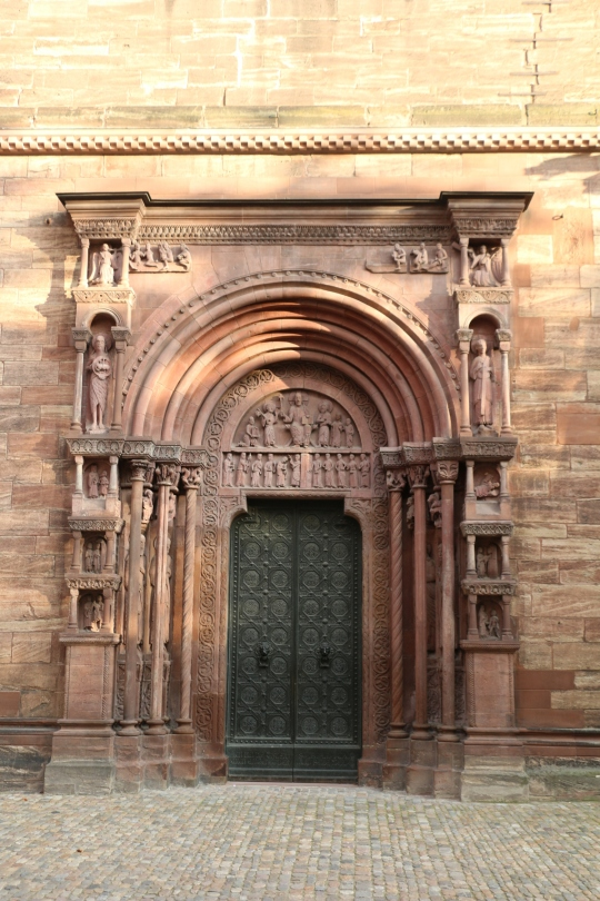 St Chatherine and Nicolas, Basil Switzerland. Side entrance