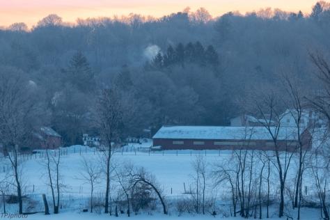 Dawn On New England Farm