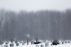 Veterans Cemetery In Snow
