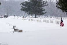 Veterans Cemetery In Snow