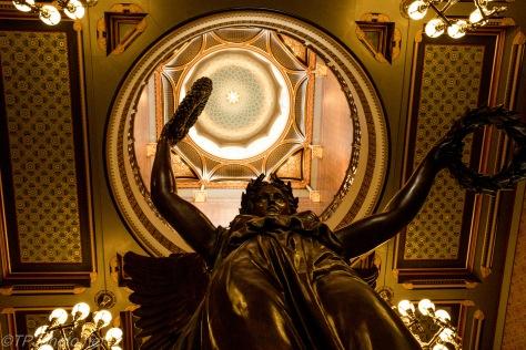 Bronze Genius Of Connecticut Under Capital Dome