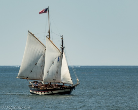 Ketch sailing ship