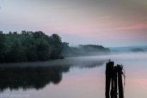 Dawn Fog Connecticut River - Click For Full View