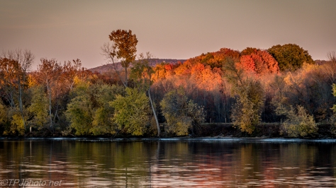 Sunset Over The Fall Trees Connecticut River - Click To Enlarge
