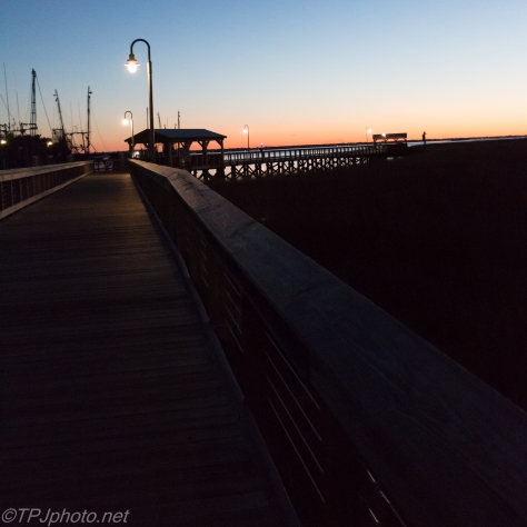 Night Time Fishing Pier - Click To Enlarge