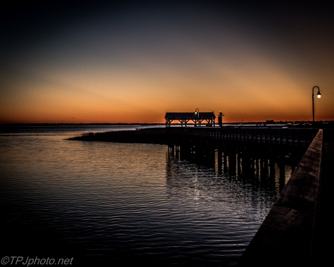 Last Light On Pier - Click To Enlarge
