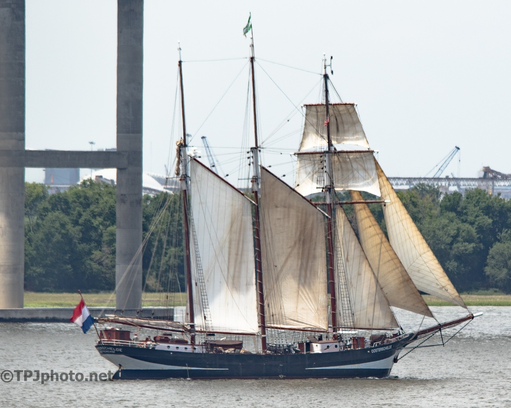 Sailing Up The Cooper River, Charleston - Click To Enlarge