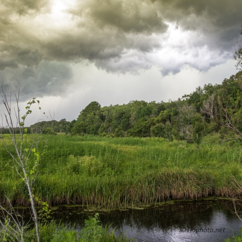 Storm Rolling Over A Marsh, 3 Images - Click To Enlarge