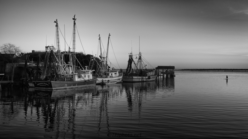 Shrimp Boats End Of Day - Click To Enlarge
