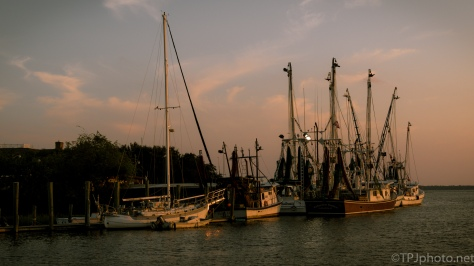 Shrimpers At Sundown - Click To Enlarge