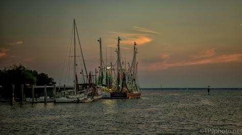 Shrimp Boats At Sunset - Click To Enlarge