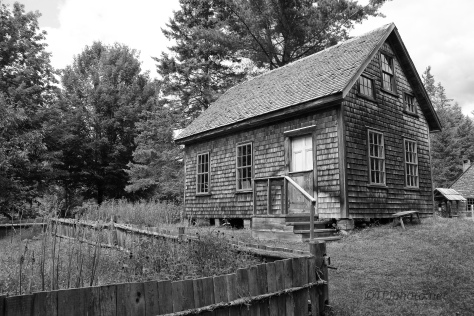 Farm House In Black And White - Click To Enlarge