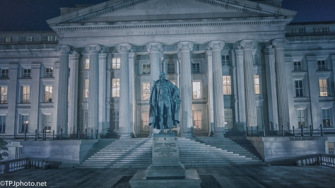 US Treasury, At Night - click to enlarge