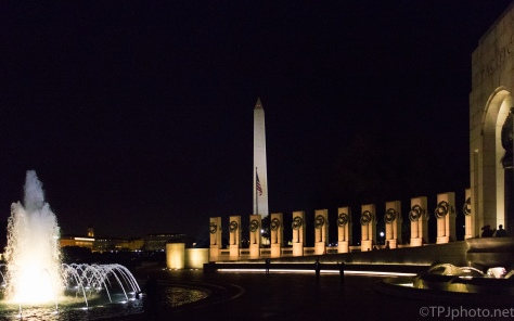 Series, WW II Memorial At Night - click to enlarge