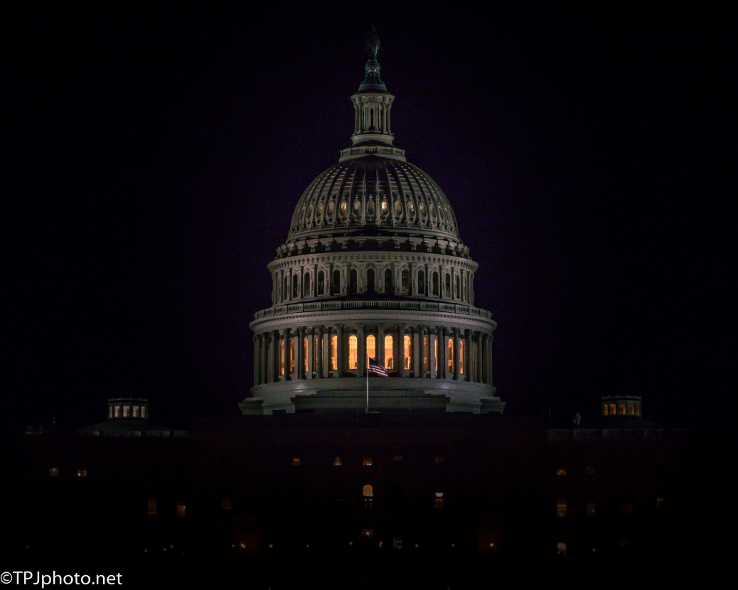 US Capital At Night - click to enlarge