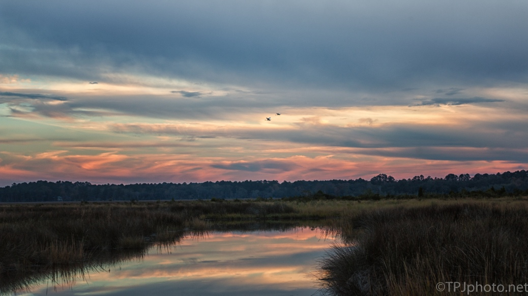 Sunset Reflections, Marsh - click to enlarge