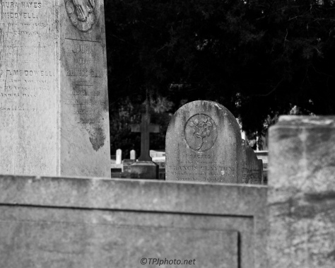 Headstones In Black And White - click to enlarge