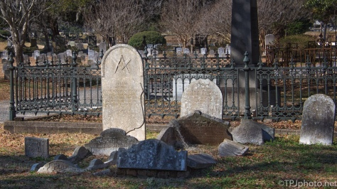 Headstones, Old Cemetery, Different Approach - click to enlarge