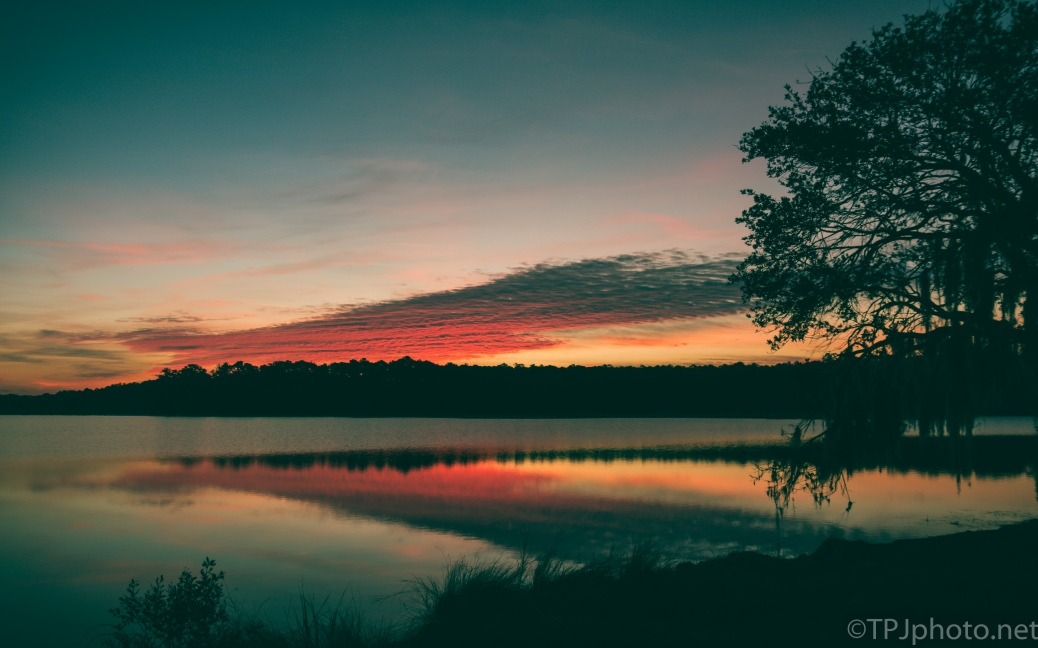Quite Sunrise On A Pond - click to enlarge