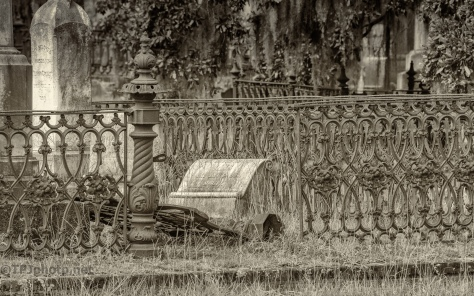 Old Cemetery In Sepia - click to enlarge