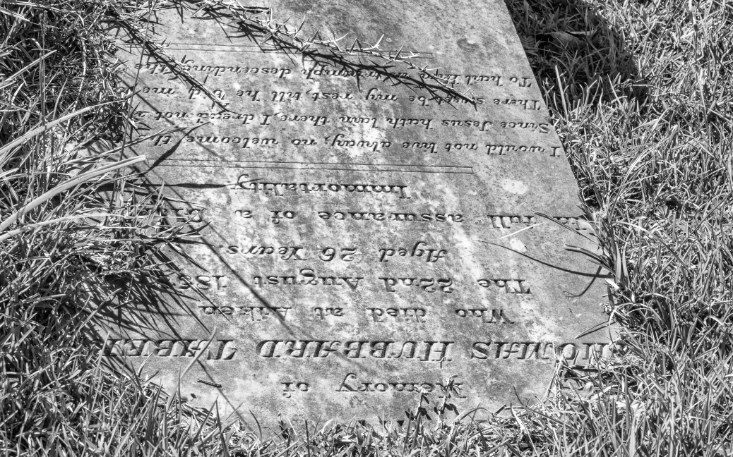 Almost Gone, Headstone - click to enlarge
