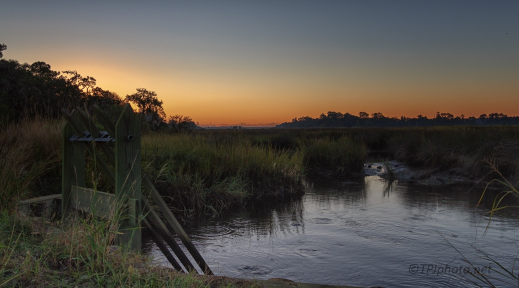 Early Light On A Marsh Canal