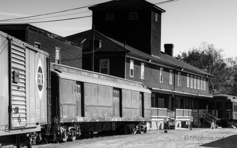 Old Depot, Black And White - click to enlarge