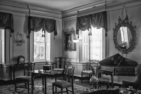 A Black And White Sitting Room - click to enlarge