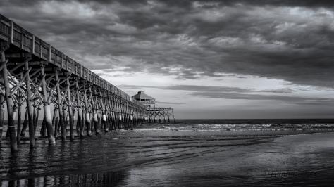 Folly Beach Pier End Of Day, Charleston